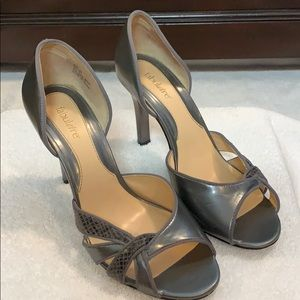 Grey with grey snake skin Fabulaire heels